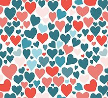 Funny hearts pattern by HelgaScand