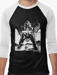 Astronaut's Best Friend (White Version) Men's Baseball ¾ T-Shirt