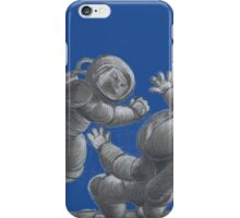 Astronaut Fistfight - Angry Space Men Fight On a Distant Moon or Planet, Far From Their Spaceship iPhone Case/Skin