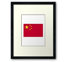 China flag Framed Print
