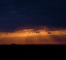 Sunrise and Storms by Jim Caldwell