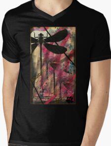 Black Dragonfly Mens V-Neck T-Shirt