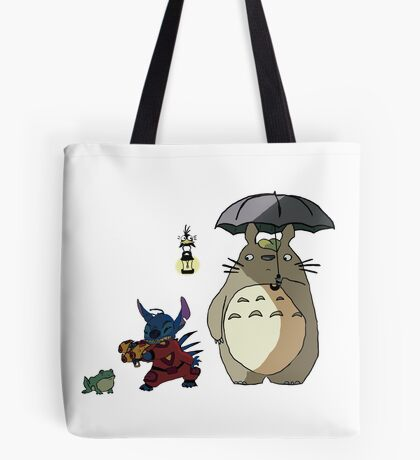 Totoro and Stitch mash-up! Tote Bag