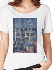The City - BLACK  Women's Relaxed Fit T-Shirt