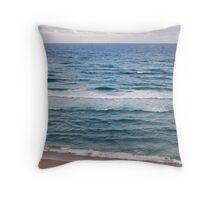 Beach Scene Mother & Daughter  Throw Pillow