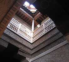 Entry way to the Ali Ben Youssef Medersa by Meagan Miller-McKeever