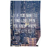 The City - WHITE Poster