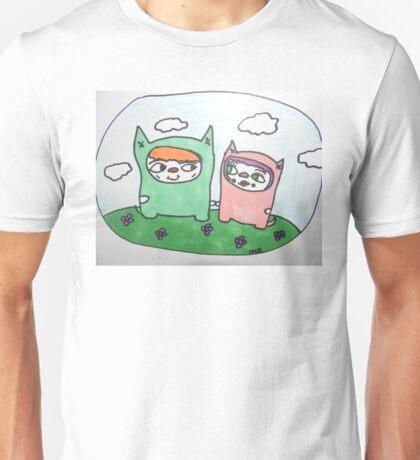 Monster cat love! Unisex T-Shirt