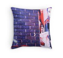chinadoll on brick lane Throw Pillow