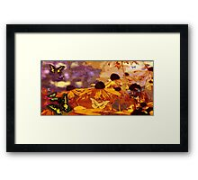 Butterflys & Flowers Framed Print