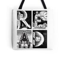 Read! Science Fiction Alphabet Letter design Tote Bag