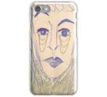 Androgynous person with raised eyebrow iPhone Case/Skin
