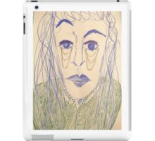 Androgynous person with raised eyebrow iPad Case/Skin