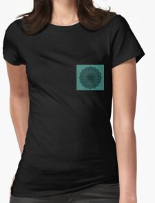 Teal Wonder Wheel Womens Fitted T-Shirt