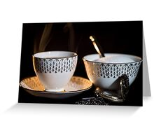 The Cup & Saucer Greeting Card