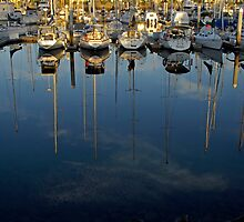Marina Reflection,3 by Aussiebluey