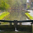 Locks at Hebden Bridge by Glen Allen