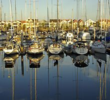 Marina Reflections,2 by Aussiebluey