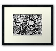 Abstract Bird Doodle Framed Print
