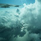 Plane over ambergis keys by Steve Lindsay