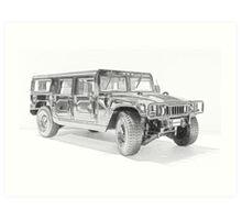 Hummer H1 Art Print