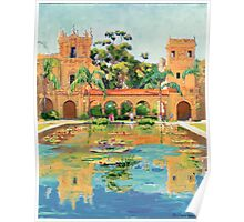 Two Towers In Balboa Park Poster
