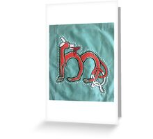 Celtic Fox Letter M Embroidery Greeting Card