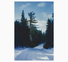 Winter Mood Impressions - Snowy Road in Algonquin Kids Clothes