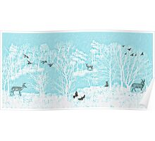 Enchanted Winter Woods Poster
