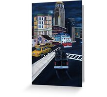 Gotham City Street Scene Greeting Card