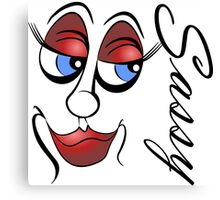 Cartoon Eyes - Sassy - 2 Canvas Print