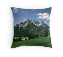 Morning snow at Ritzenspitzen, Austria Throw Pillow