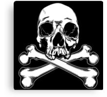 Skull and Crossbones - Jolly Roger 2 Canvas Print