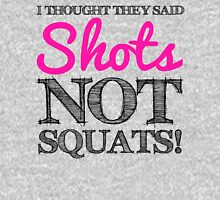 I Thought They Said Shots, not Squats! (grey) Tank Top