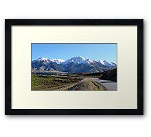 Road into Hanmer Springs, NZ Framed Print