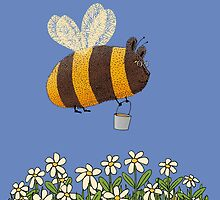 Bumble Bear with honey flies home by SusanSanford