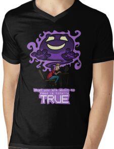 Creepypasta Ghost (with Text) Mens V-Neck T-Shirt