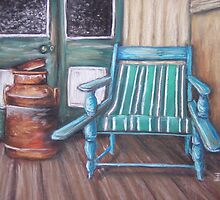 Squatter's Chair and Cream Can by Dianne  Ilka