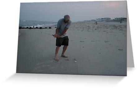 Beach golf by cindylu