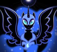 Nightmare Moon Shines Bright by Darklight02
