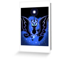 Nightmare Moon Shines Bright Greeting Card