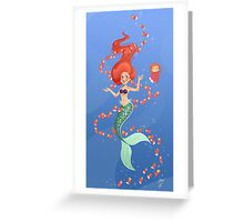 Ariel and Ponyo Under the Sea Greeting Card