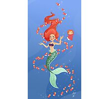 Ariel and Ponyo Under the Sea Photographic Print