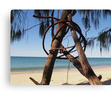 Beach Sculpture Canvas Print