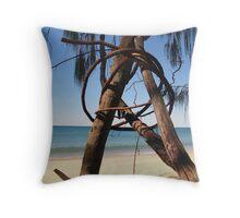 Beach Sculpture Throw Pillow