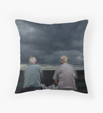 Friends until the end Throw Pillow
