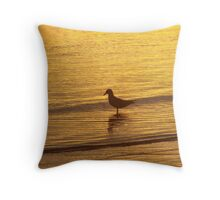 Lonely Gull Throw Pillow
