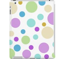 cute and fun, playful purple, green, blue, yellow colorful round dots. iPad Case/Skin