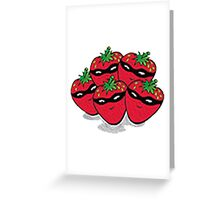 The Strawberry Thieves band logo large Greeting Card