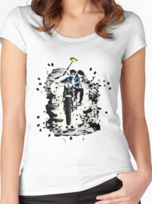 Emmett and Bay street art - Switched at Birth Women's Fitted Scoop T-Shirt